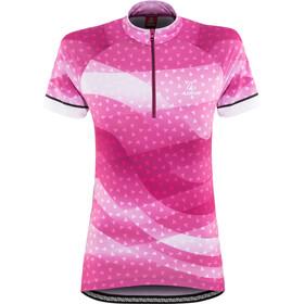 Löffler Prisma Naiset Pyöräilypaita lyhythihainen , vaaleanpunainen